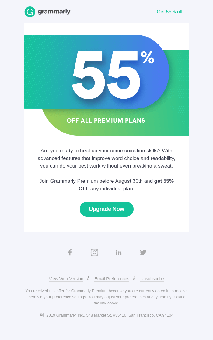 grammarly email