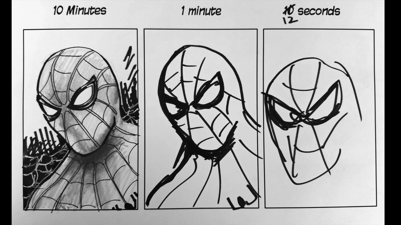 Fast Cheap Good. Pick 2. Example using spider man speed drawing.