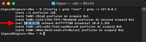 What Is My IP Address on Mac [Terminal ifconfig grep output]. Source: nudesystems.com