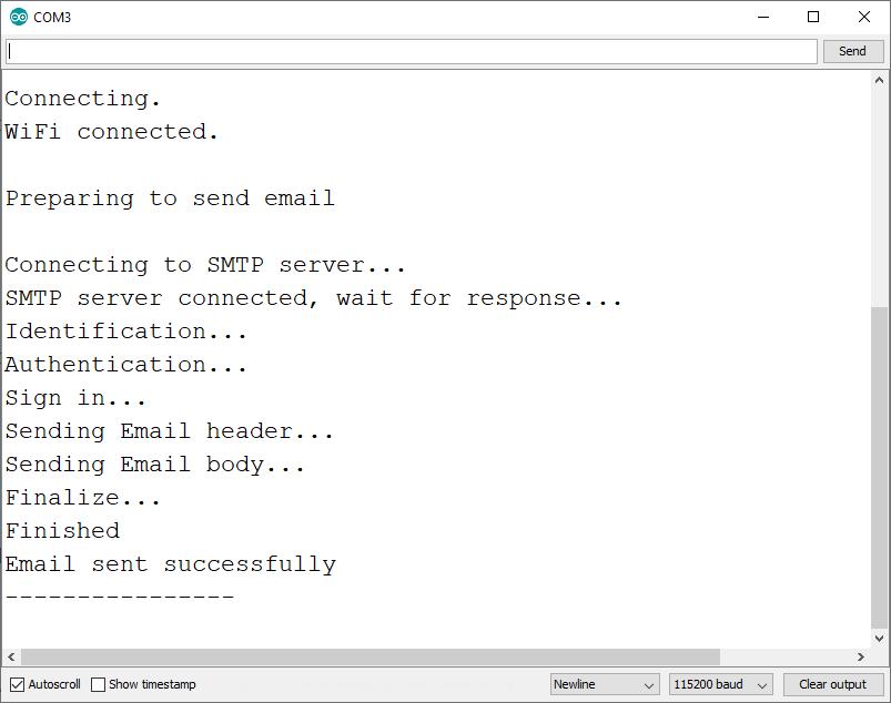 Thông báo tương tự Serial Monitor