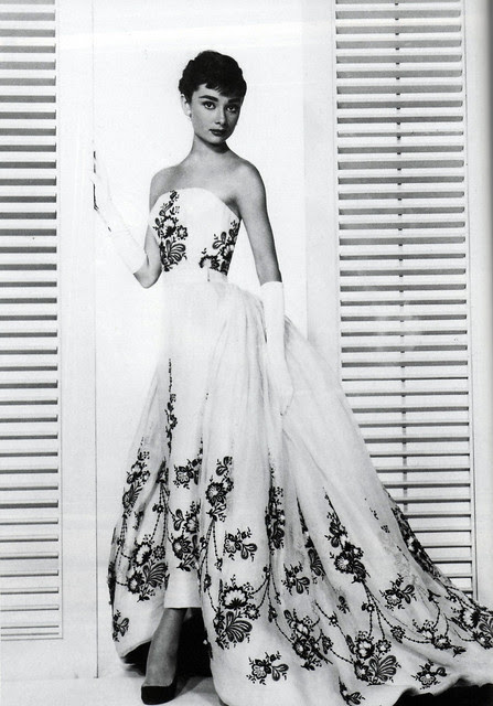 """Audrey Hepburn in the """"Sabrina"""" dress by Givenchy, 1953"""