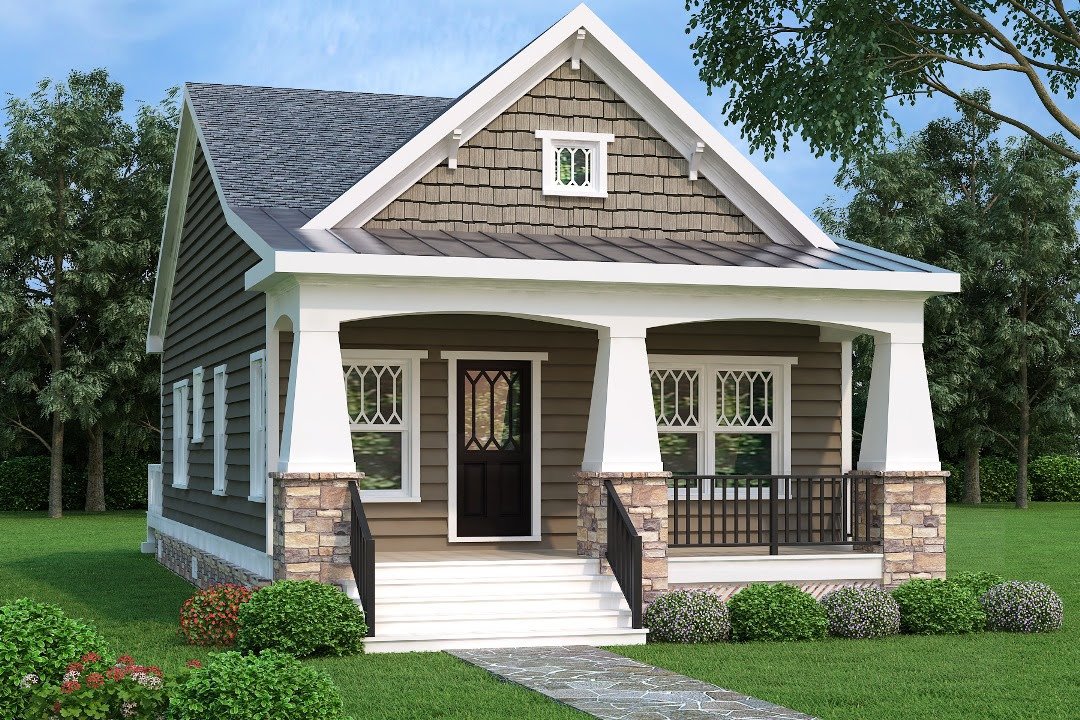 Bungalow House Plan #104-1195: 2 Bedrm