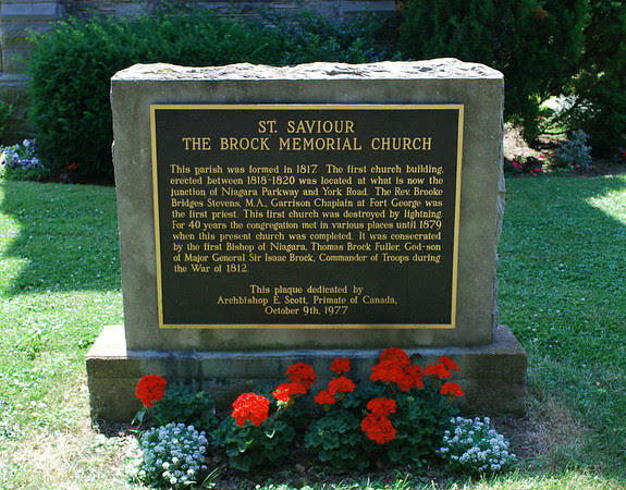Plaque for the Brock Memorial Church