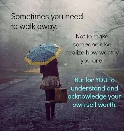 Sometimes You Need To Walk Away Not To Make Someone Else