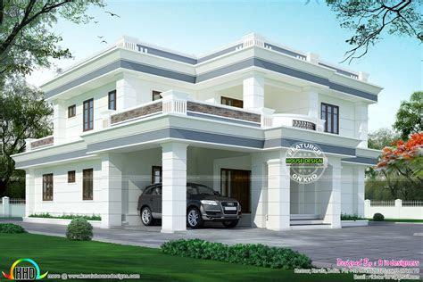 kerala home design  floor plans modern flat roof house