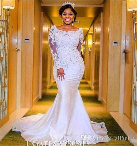 2018 Nigerian Mermaid Wedding Dresses Sweetheart Beaded