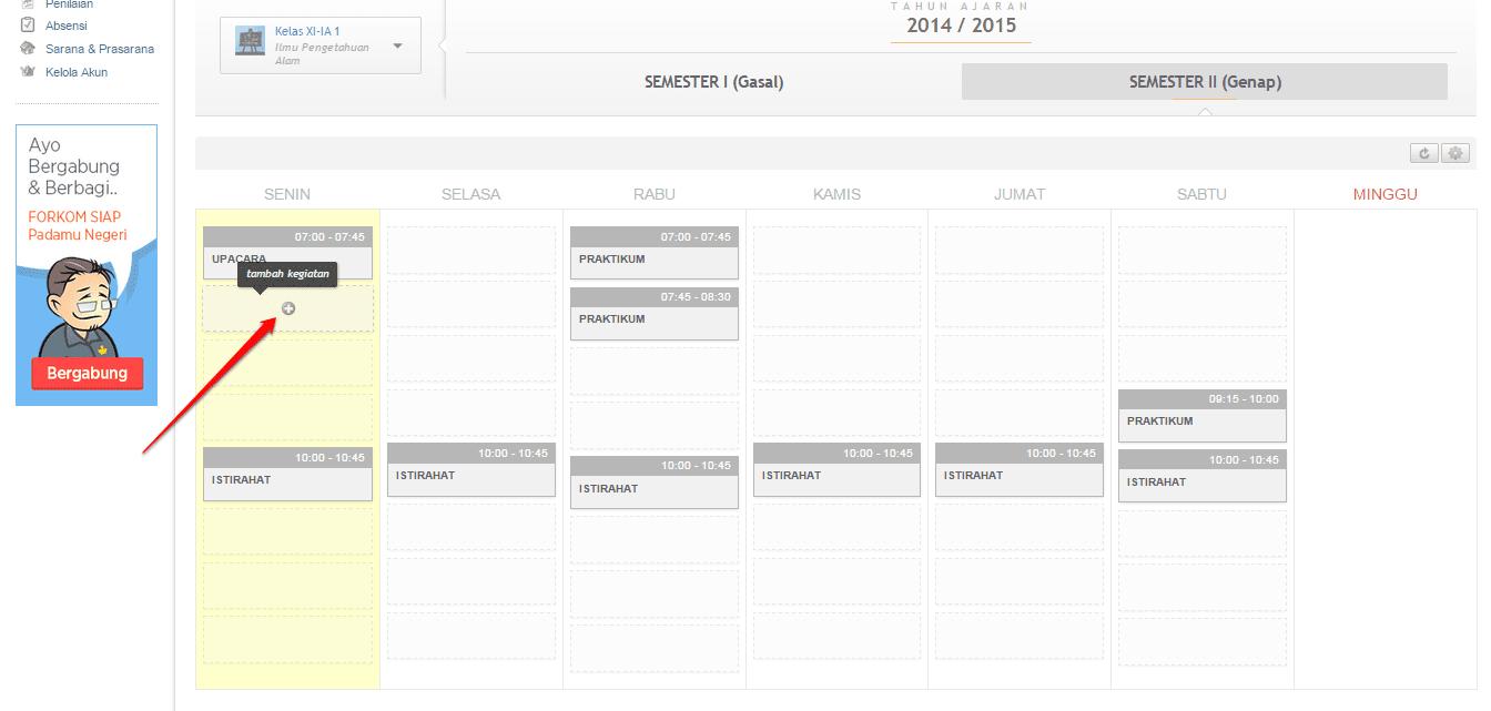 jadwal-klik tambah kegiatan