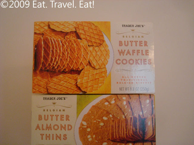 Trader Joes Butter Waffle Cookies and Butter Almond Thins