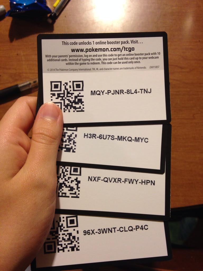 pokemon trading card game online qr codes