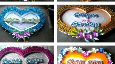Wedding name plate designs..thermocol cutting work   YouTube