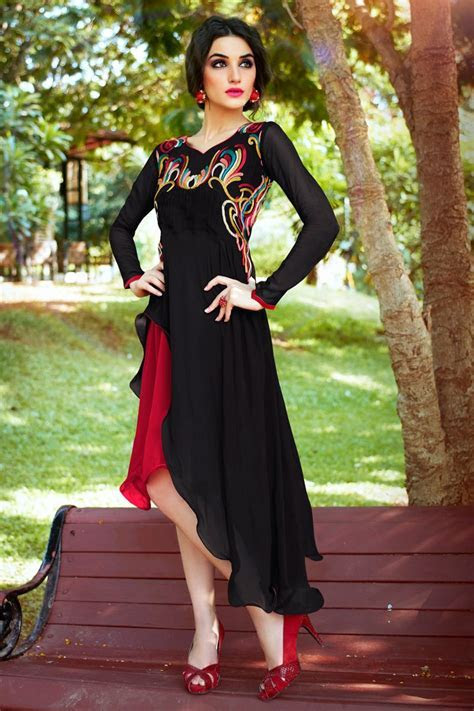 Black Color Designer Party Wear Kurti Online From