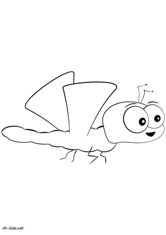 coloriage de libellule gratuit a imprimer et colorier Dessin 446