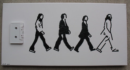 the Beatles Abbey Road cassette tape art