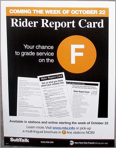 Report Card - F Line Poster - Starting Oct 22
