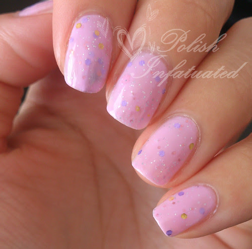 purpley pink crelly glitter