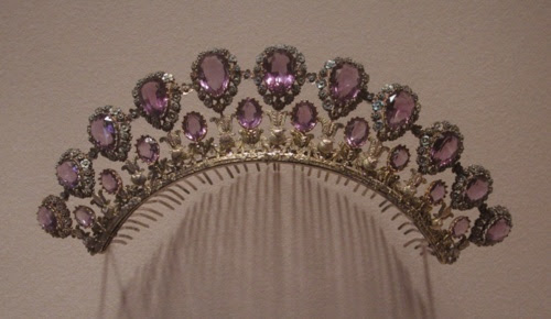Amethyst jewelry Met; ca. 1825-30    A little early for Victorian