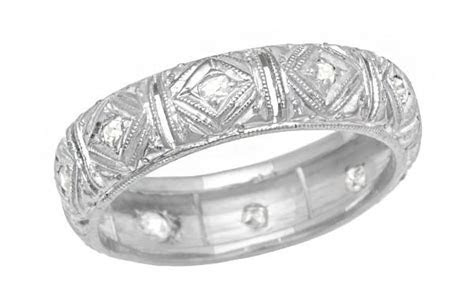 Art Deco Talcott Vintage Diamond Filigree Wedding Ring in