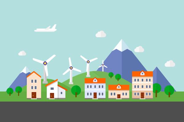 風力発電 街建物系イラスト専門サイトtown Illust
