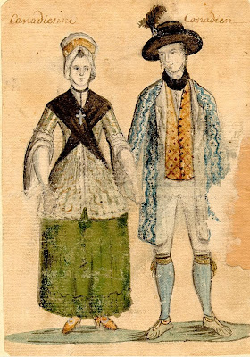 Montreal male and female clothing 1750