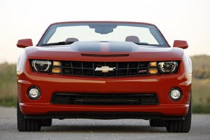 2011 Chevrolet Camaro SS Convertible front view