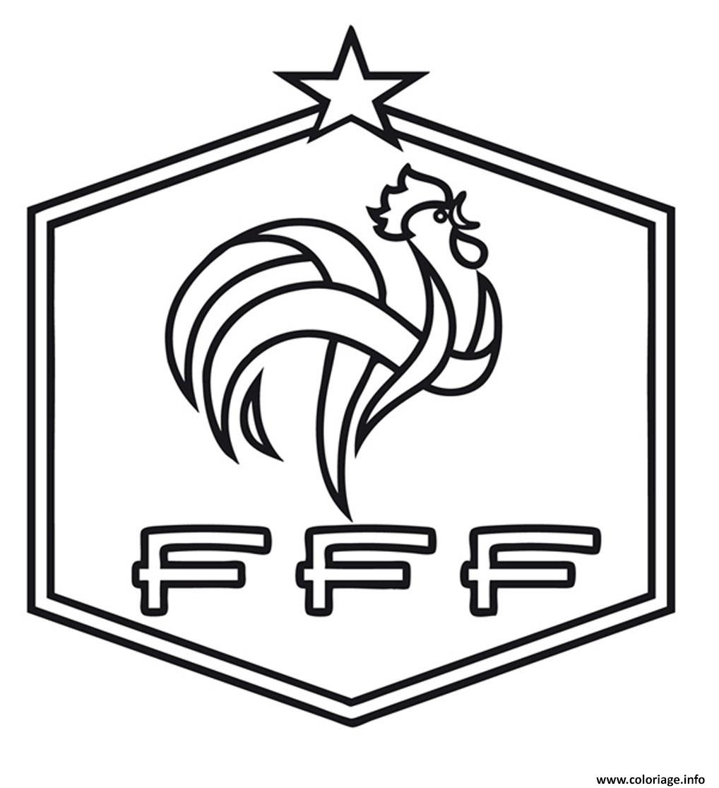Coloriage Foot France Fff Jecoloriecom
