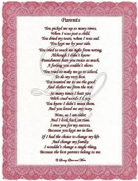 Poems About Loving Your Parents   Parents poem is for