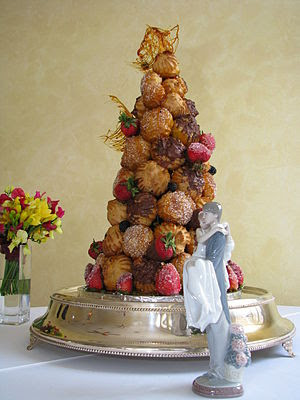 Croquembouch wedding cake