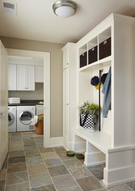 Birmingham mud/laundry room, MI - traditional - laundry room
