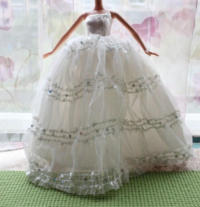 Fashion Royalty Barbie Silkstone Doll outfit wedding dress