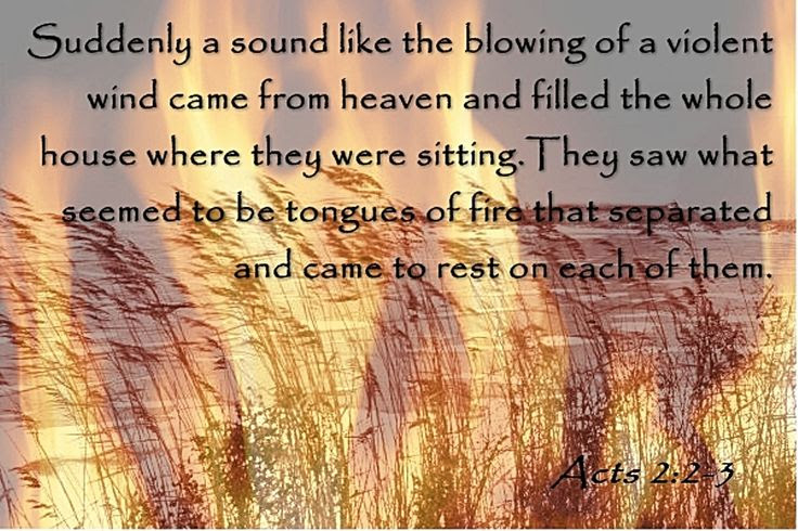 Image result for pentecost fire and wind
