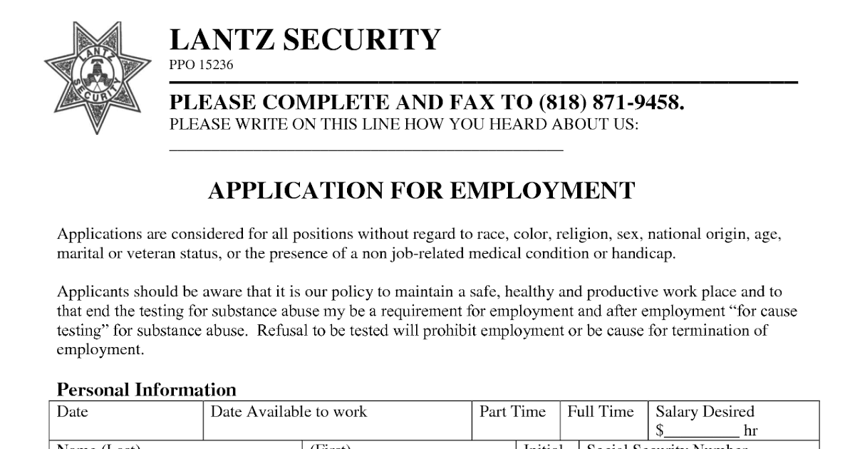 us security associates employment application employment