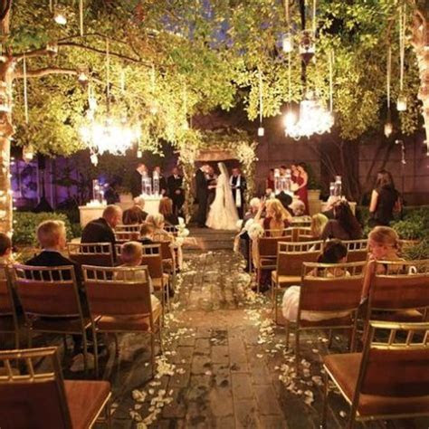 31 Wedding Ceremony Space Lighting Ideas For Outdoors