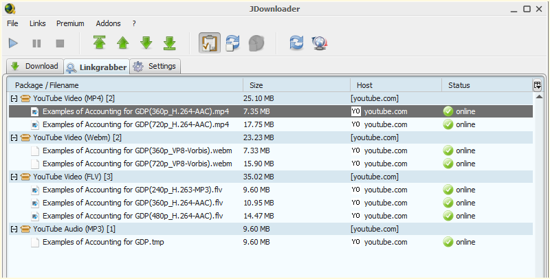how to download with jdownloader from youtube