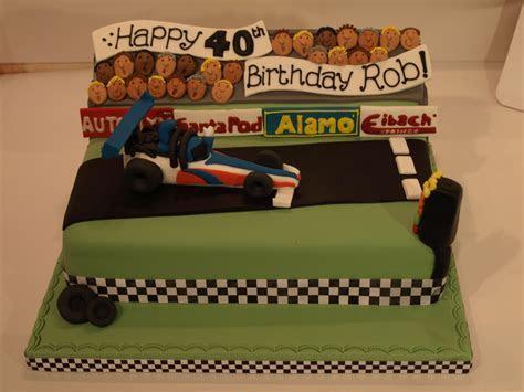 Drag racing theme birthday cake   I love that cake Co