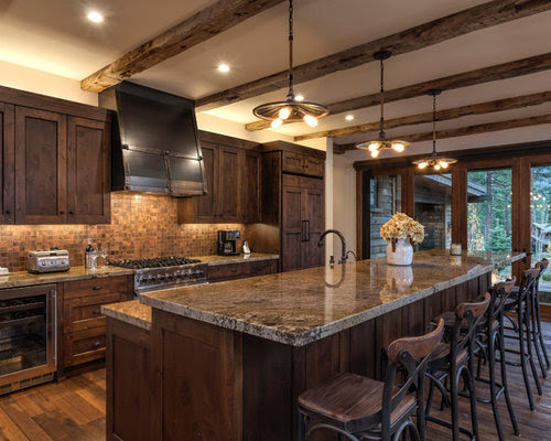 Rustic Kitchen Design Ideas Remodels Photos with Dark