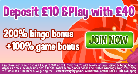 Deposit just £10 and play with £40!