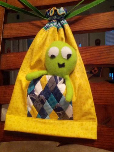 Zakka SAL/modified lined drawstring bag.