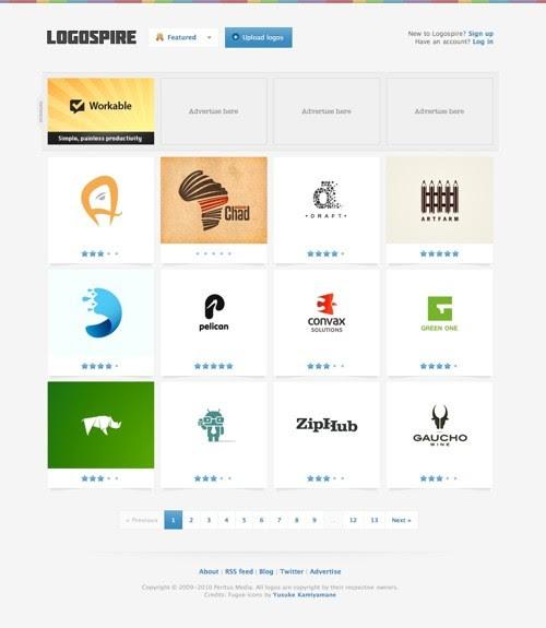 Logospire Logo inspiration gallery 201009211 23 Páginas web para inspirarnos con logos