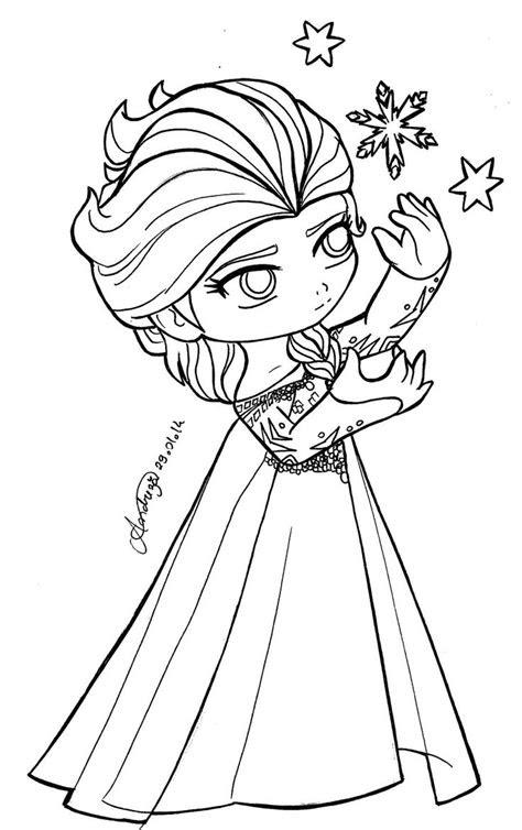 chibi queen elsa frozen  tifayuy elsa coloring pages