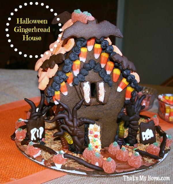 halloween gingerbread house recipe