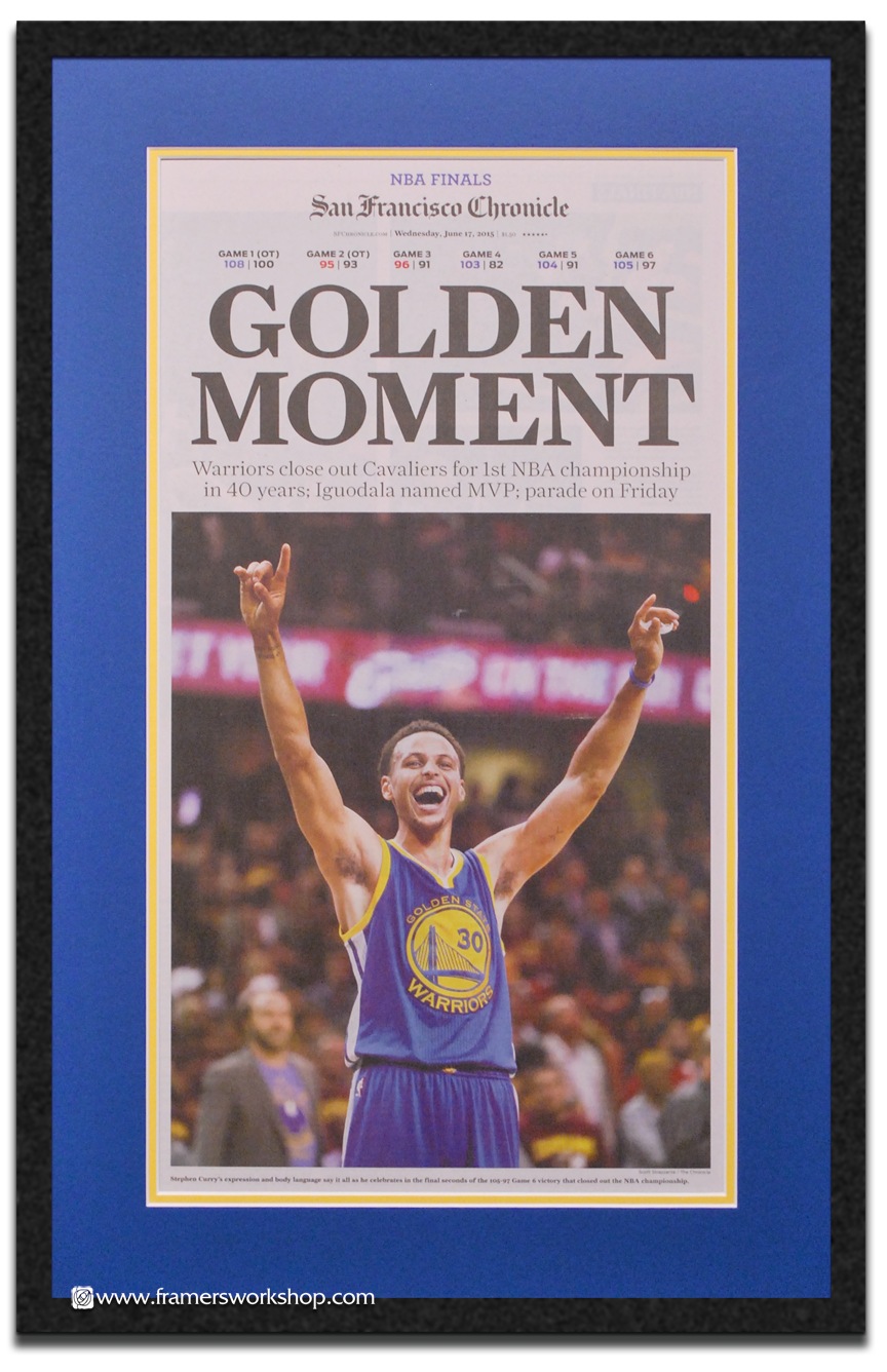 Golden State Warriors Collectables At The Framers Workshop