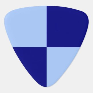 Light Blue and Dark Blue Rectangles Guitar Pick