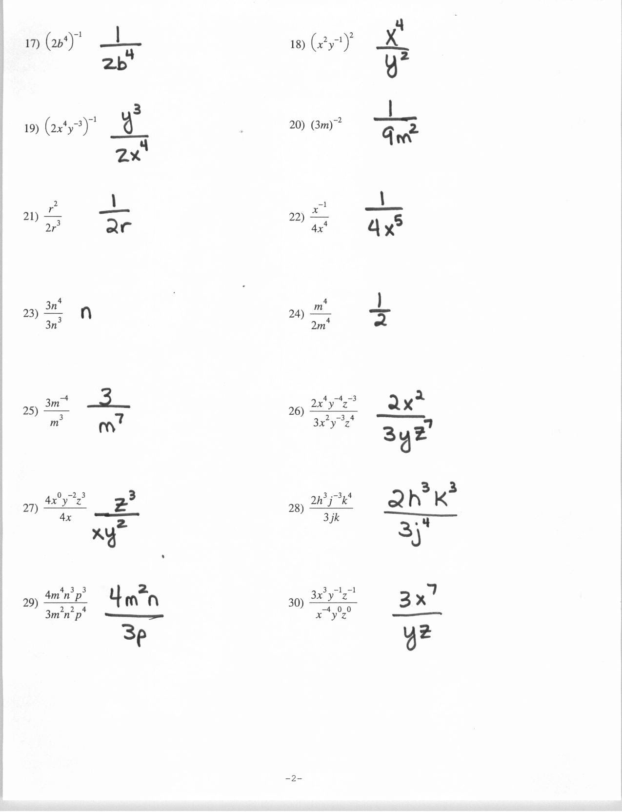 29 Simplifying Rational Exponents Worksheet With Answers ...