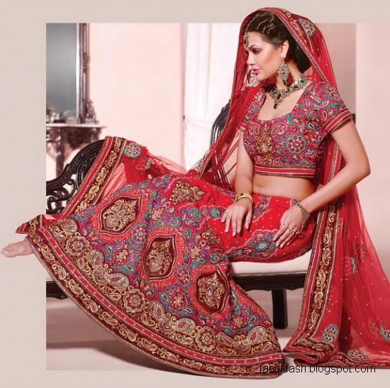 Indian-Pakistani-Beautiful-Bridal-wedding-Dress-Collection-2012-2013-Bridal-Saree-Lehanga-5
