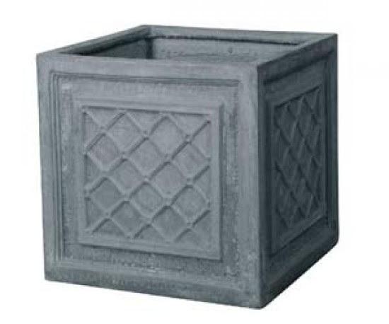 Fibre clay square pot - Homebase   Outdoor pots   Plant pot ...