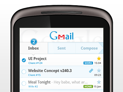 Mobile Google Mail App for Android