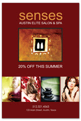 PCS-1047 - salon postcard flyer
