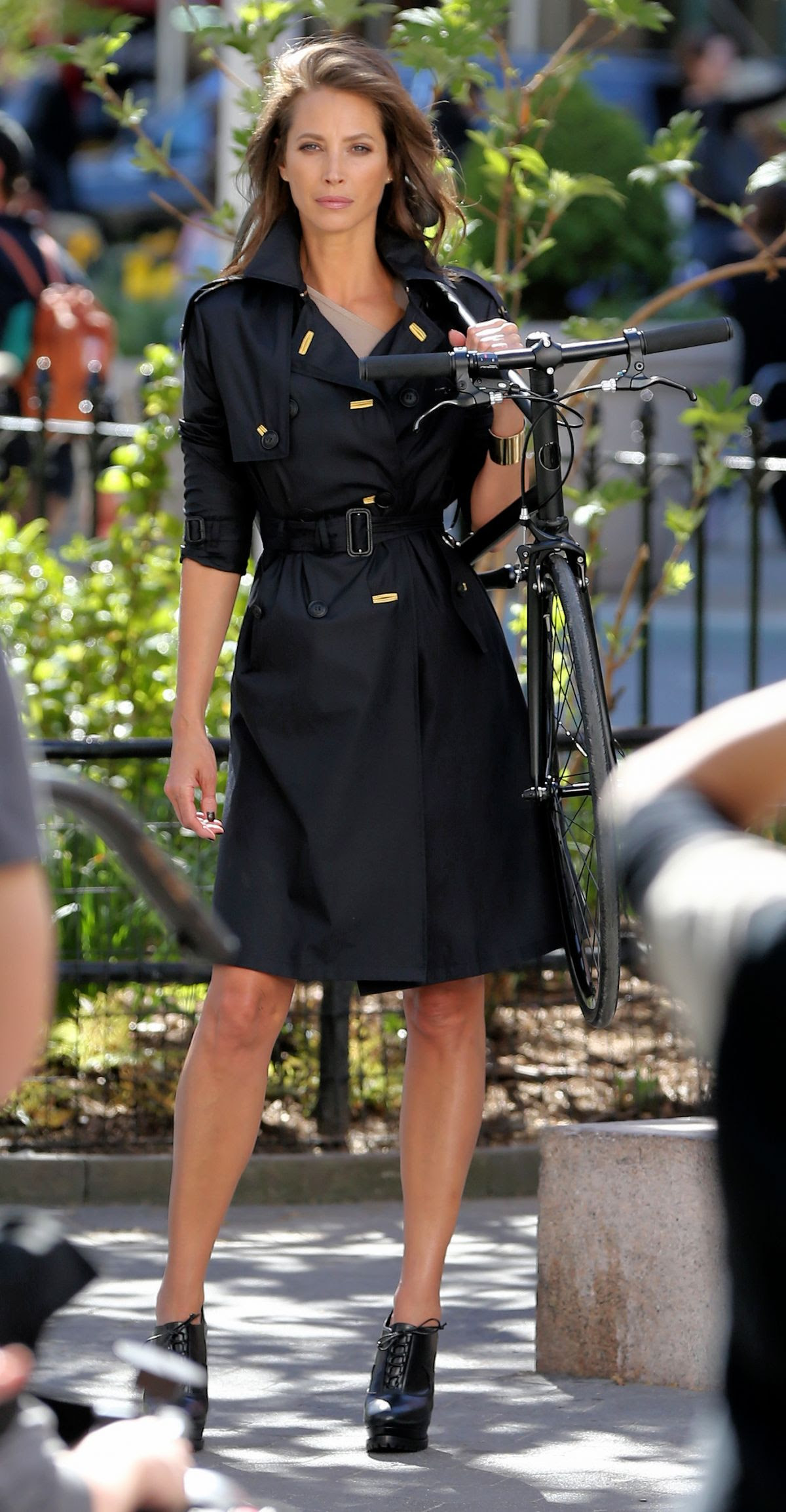 CHRISTY TURLINGTON on the Set of a Photoshoot in New York 04/21/2016