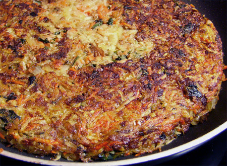 Giant Shredded Veggie Pancake