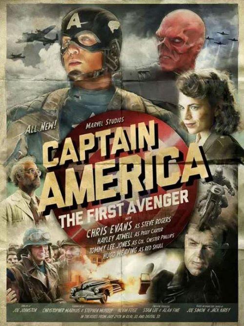Captain America vintage style